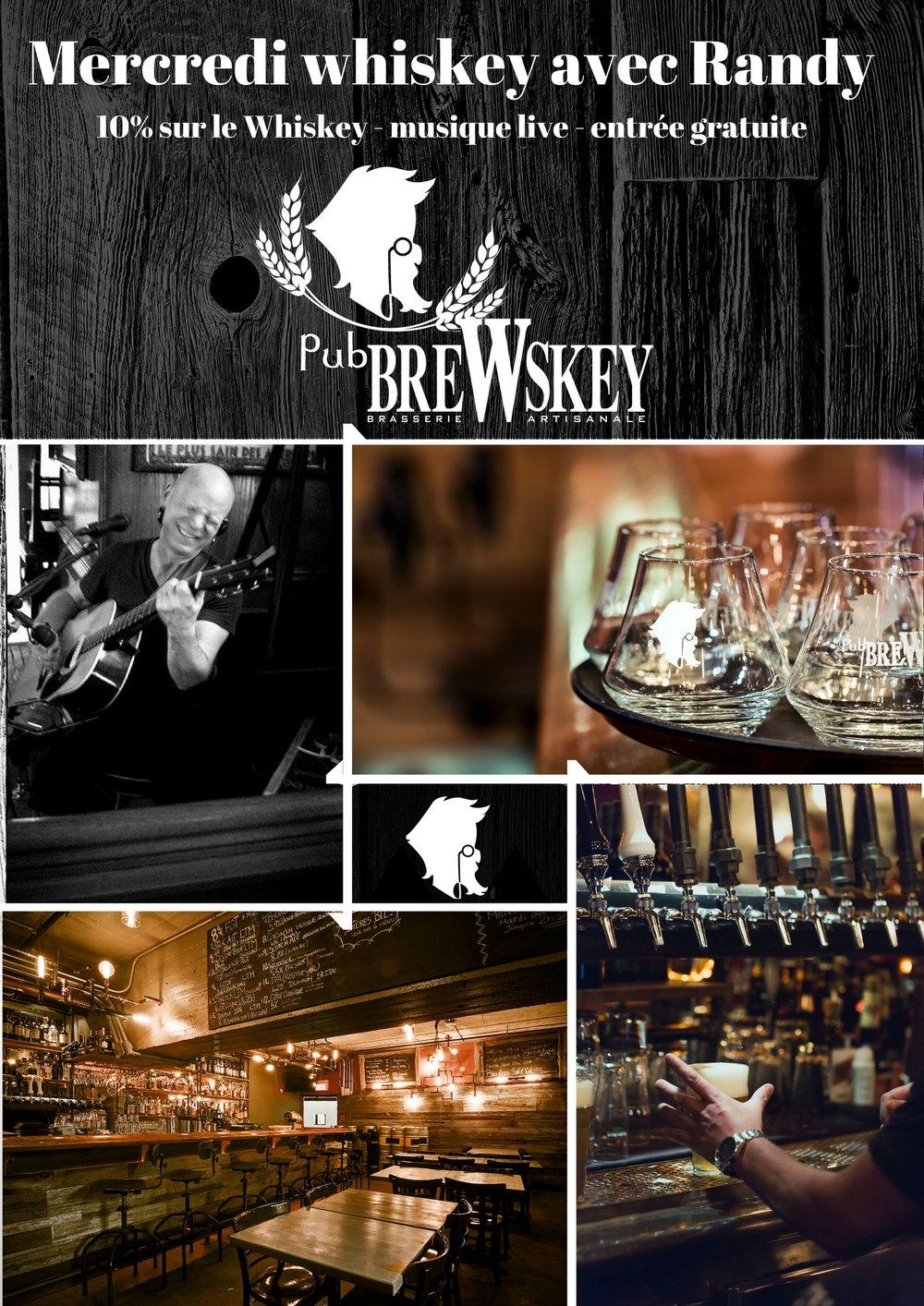 Les Mercredis Whiskey avec Randy - Venez déguster d'excellents whiskeys et profitez d'un rabais de 10% dessus pour la soirée !
