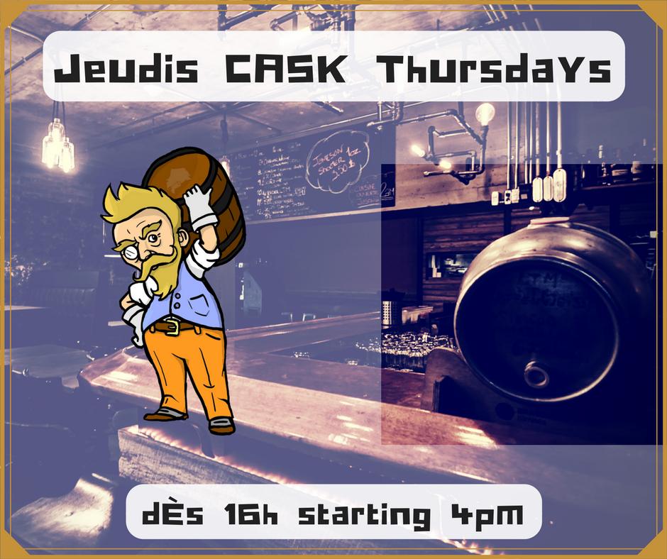 Jeudis soirées CASK - Tous les jeudis, nous ouvrirons un cask en votre compagnie afin de vous offrir des versions