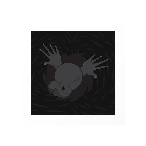 skull hand black wings-wall print.png