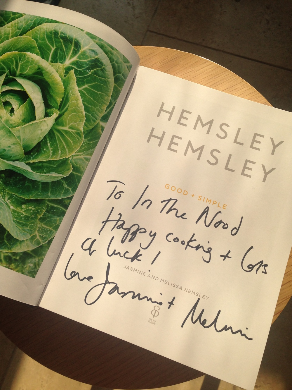 @hemsleyhemsley signed book for In The Nood