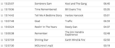 Today's playlist.