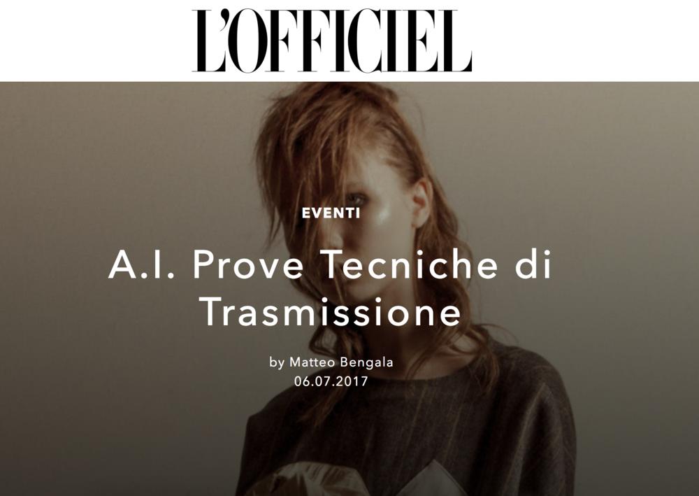 L'Officiel Italia    https://www.lofficielitalia.com/eventi/a-i-prove-tecniche-di-trasmissione