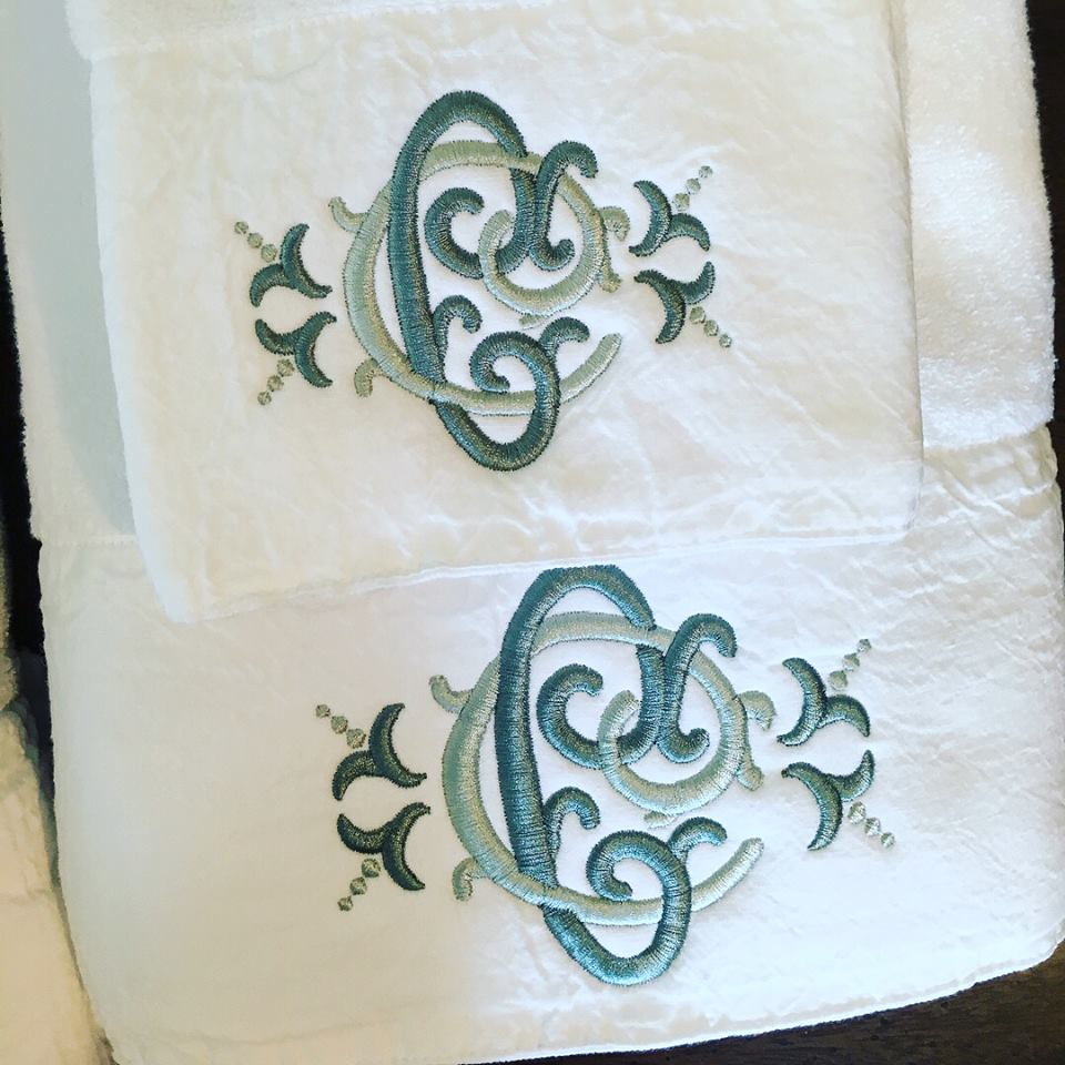 Cotton Blossom White Towels with Monogram.jpg