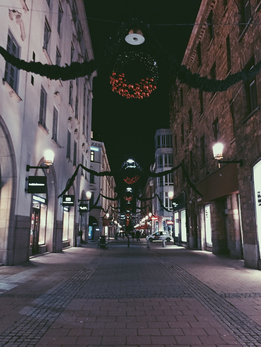 "I shall call this one ""Picture is Unrelated: Stockholm at Christmas."""