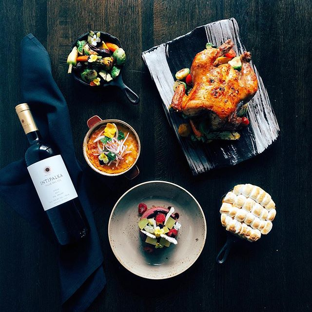 Four course meal prepared for your thanksgiving table by @tantachicago's executive chef @gianvalera. Order by 11/19 and pick up in time for your gathering (wine not included) 🍗 #devourcity