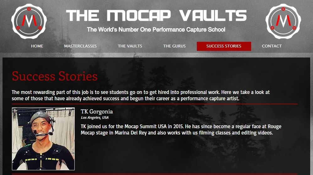 Featured on  The MoCap Vaults  website