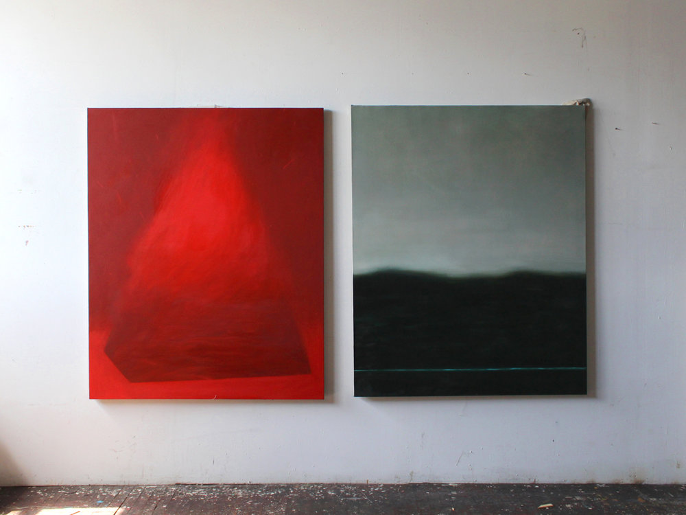 Selected works inspired by Moby Dick by Herman Melville  Oil & acrylic on canvas or wood  2015