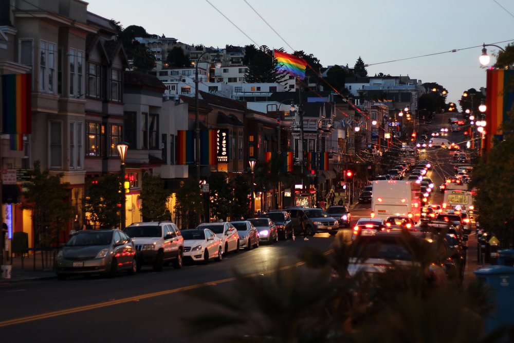 The view of The Castro from outside Anchor Oyster Bar
