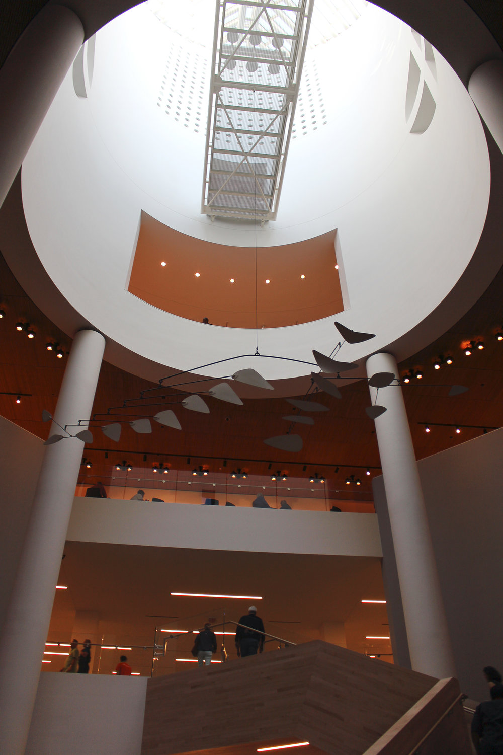 Alexander Calder in the entry of the SFMOMA