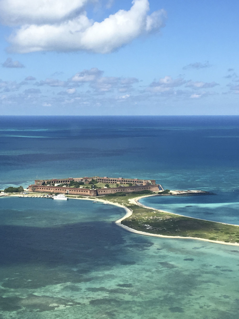 Views of Fort Jefferson from the air