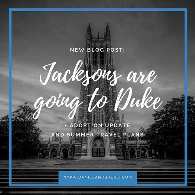 So...we got into Duke. Link in bio 🎉