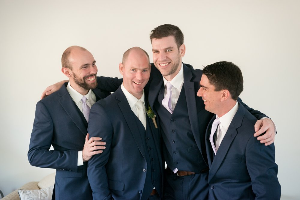 Calvin Estate Wedding - Hunter Valley - Groomsmen portrait
