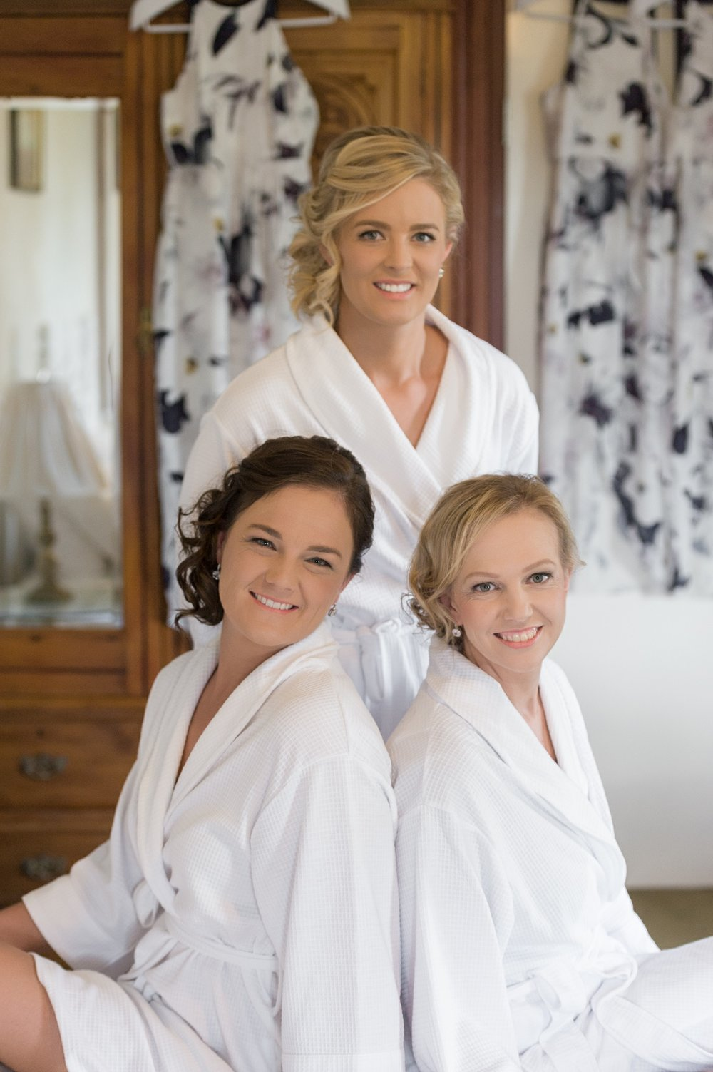 Bridesmaids prep portrait at Calvin House - Hunter Valley Wedding Photography
