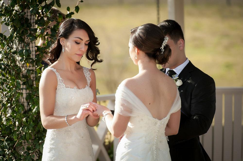 Exchange of wedding rings