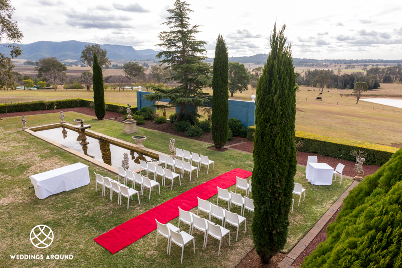 Luxury Hotel and resort wedding venue, stunning gardens and walkways with views across the valley.
