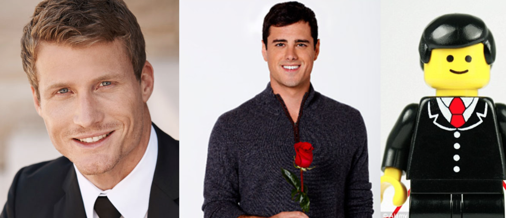 This years Bachelor Richie Strahan (Pictured Left) is admittedly a big step up from this years American Bachelor (Pictured Middle) who looks like a fucking Lego man. (In case you can't tell the difference, Lego man is on the right)