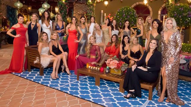 "Pictured: Before meeting The Bachelor, the girls decided to play a game of ""Who Can Show The Most Tits Without Being Made To Change?"" It was a draw."