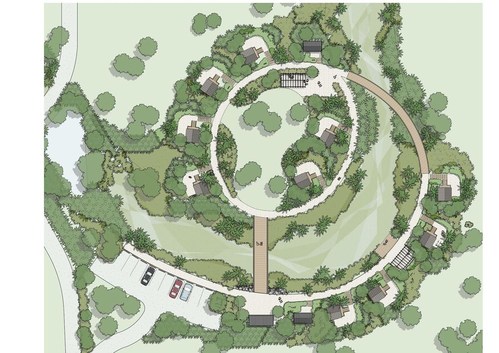 Site plan of Accommodation