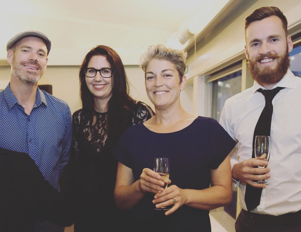 Luke Porter, Heidi Stewart, Liz Gavin and Shea Gillison at the NZILA Awards - Photo Credit: NZILA