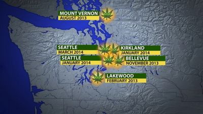 HASH OIL EXPLOSION LOCATIONS IN THE STATE OF WASHINGTON
