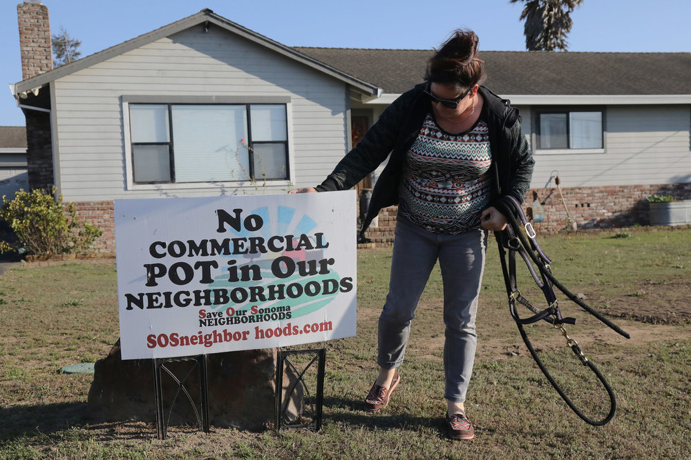 Britt Christiansen and her neighbors in Sonoma County banded together and sued the operators of a local pot business over the smell. Credit Jim Wilson/The New York Times