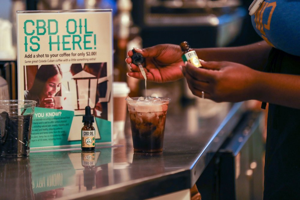 CBD was offered at a Florida coffee shop in 2018. Some local governments are cracking down on its sales.CreditCreditJennifer Lett/South Florida Sun-Sentinel, via Associated Press