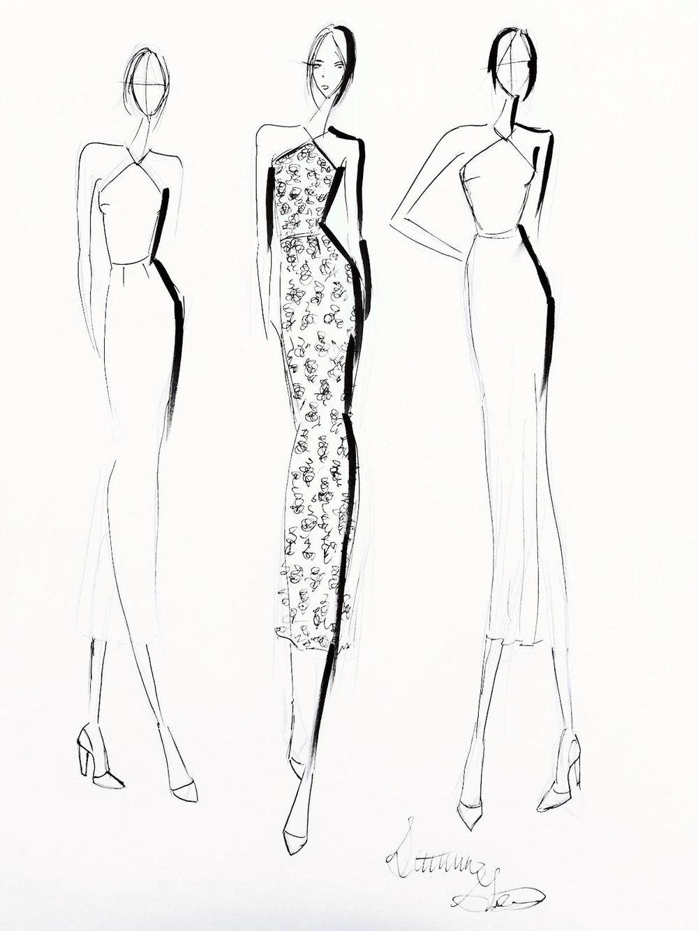 Design 3 - Halter neckline