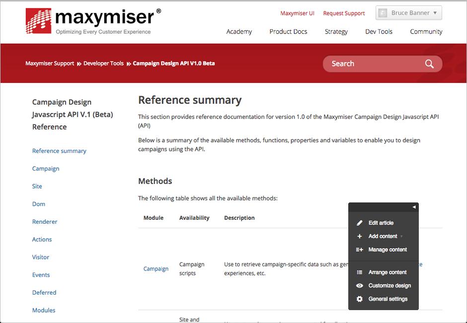 maxymiser tool
