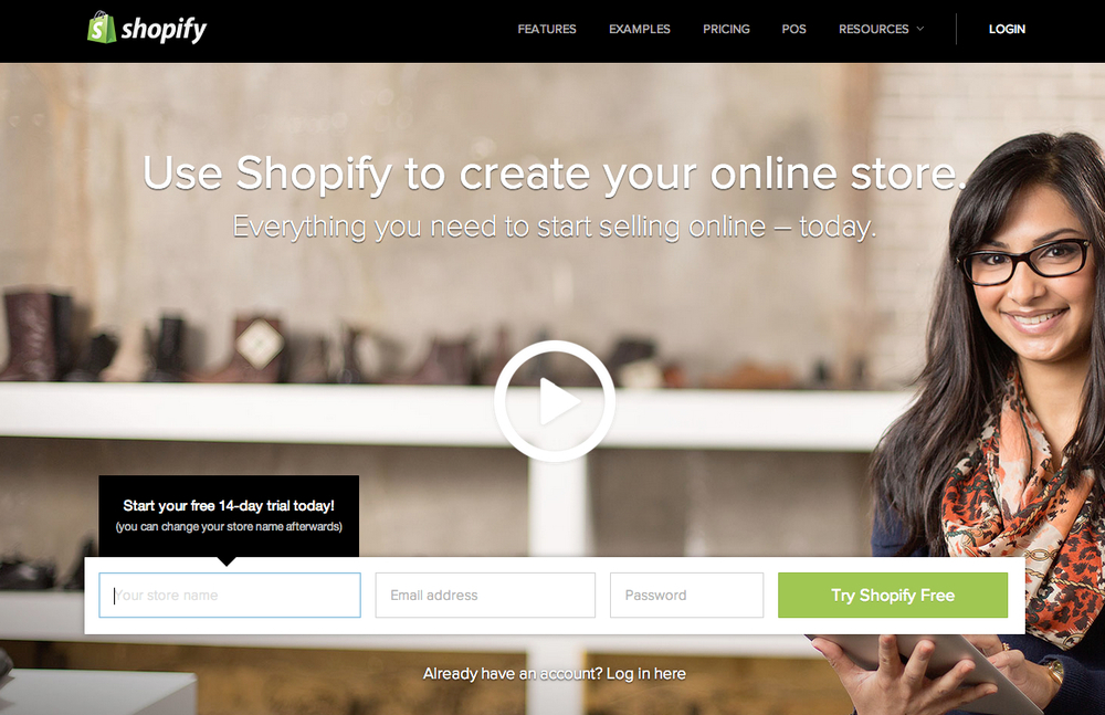 shopify store - Build your ecommerce website