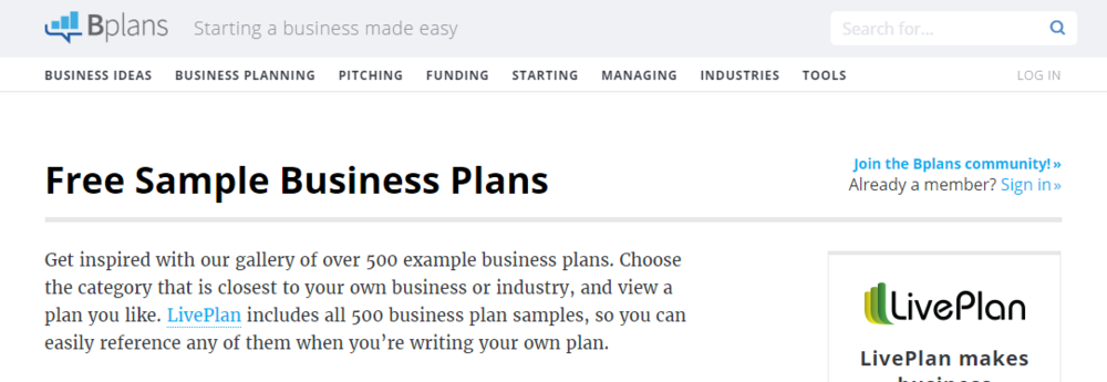 http://www.bplans.com/sample_business_plans.php