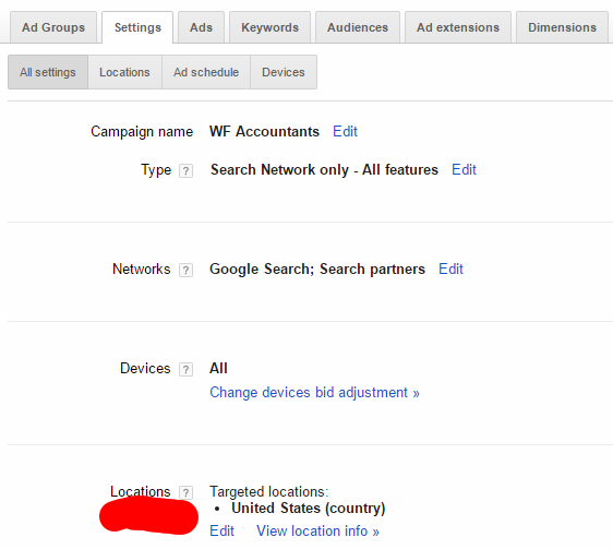 target location-adwords-backlinkfy