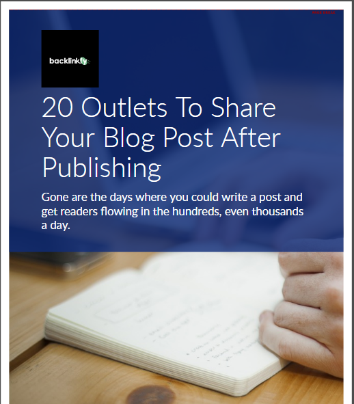 20 Outlets To Share Your Blog Post After Publishing