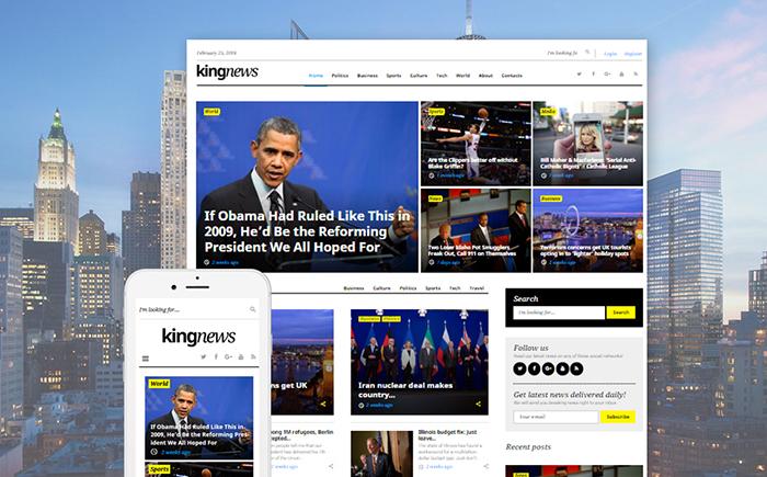 Kingnews - Worpress Magazine Theme