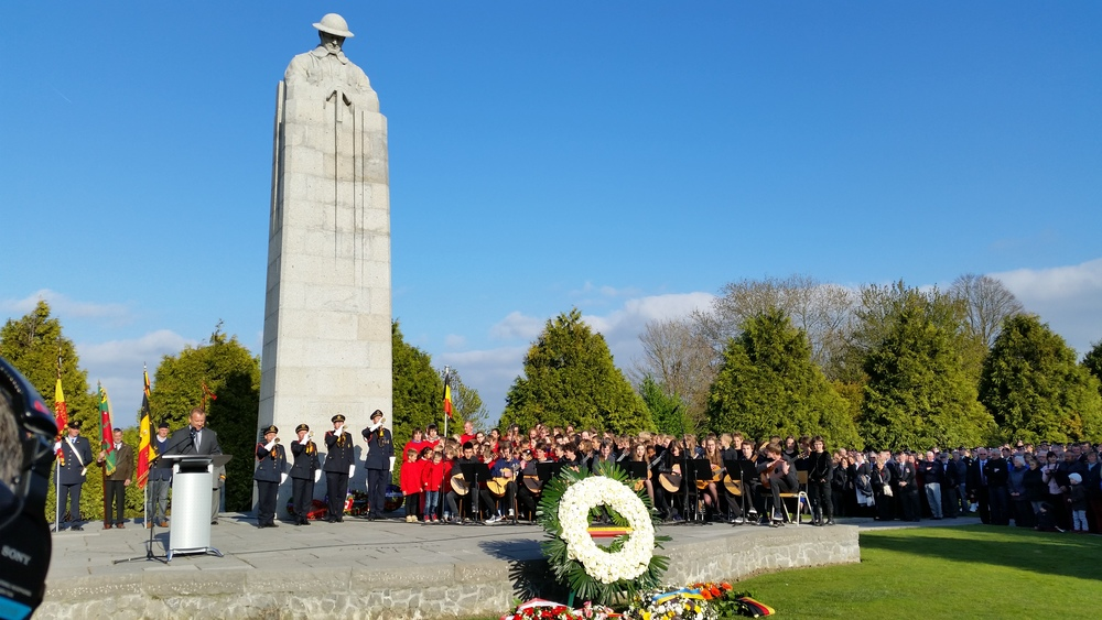 Ceremony at the Canadian Memorial April 22, 2015. Photo by Brad Trefz, all rights reserved.