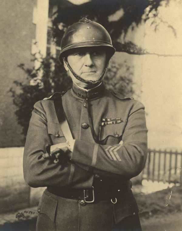 BG James Harbord, seen wearing the French helmet he preferred to the British. Prior to becoming the head of the AEF SoS, he led forces at Chateau Thierry and Belleau Wood, including all of the Marine units. After the war he became President of the RCA Corporation where he oversaw the creation of NBC, RKO Pictures, and the acquisition of Victor Records to create RCA-Victor.(Image: Public Domain)