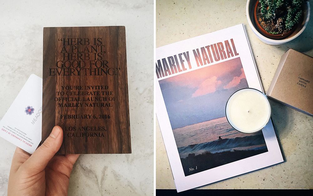 Marley Natural Launch Party Invite