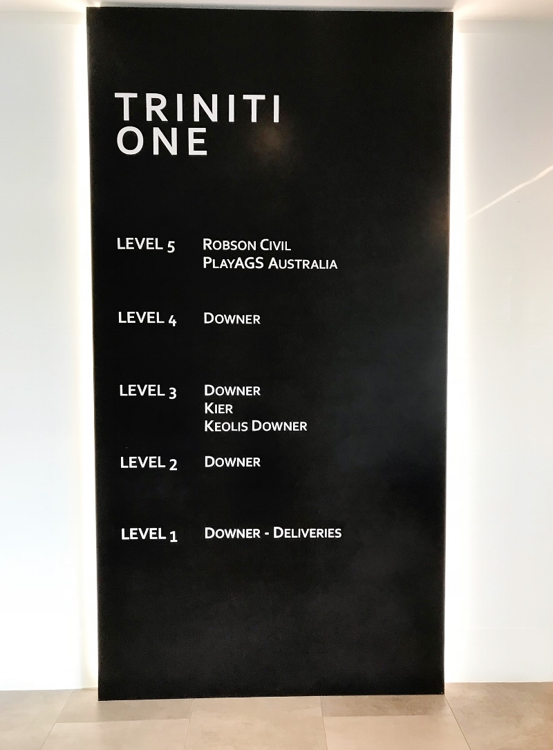 Corian Deep Nocturne - Directory Board