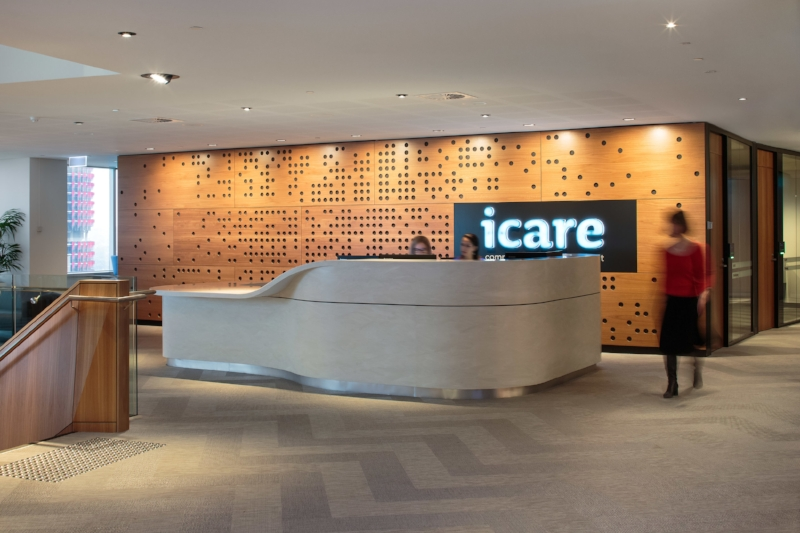 icare reception desk