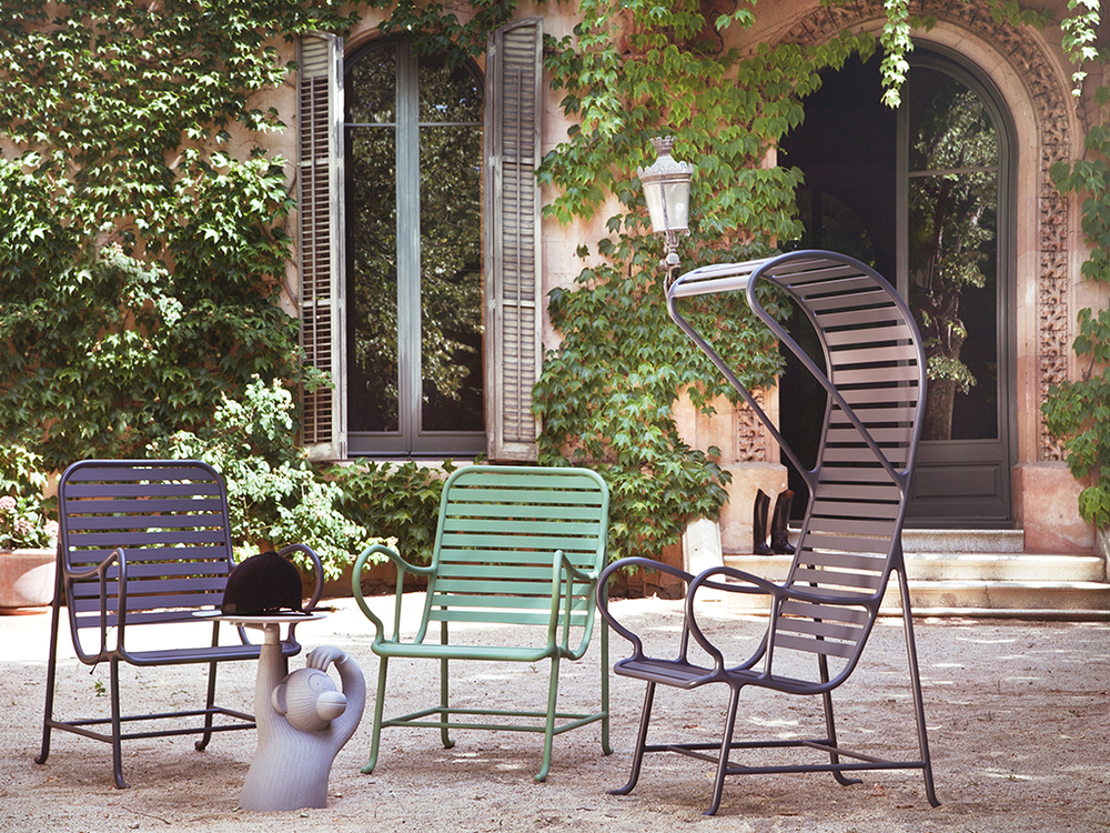 BD BARCELONA - Gardenias armchair with pergola - Outdoor