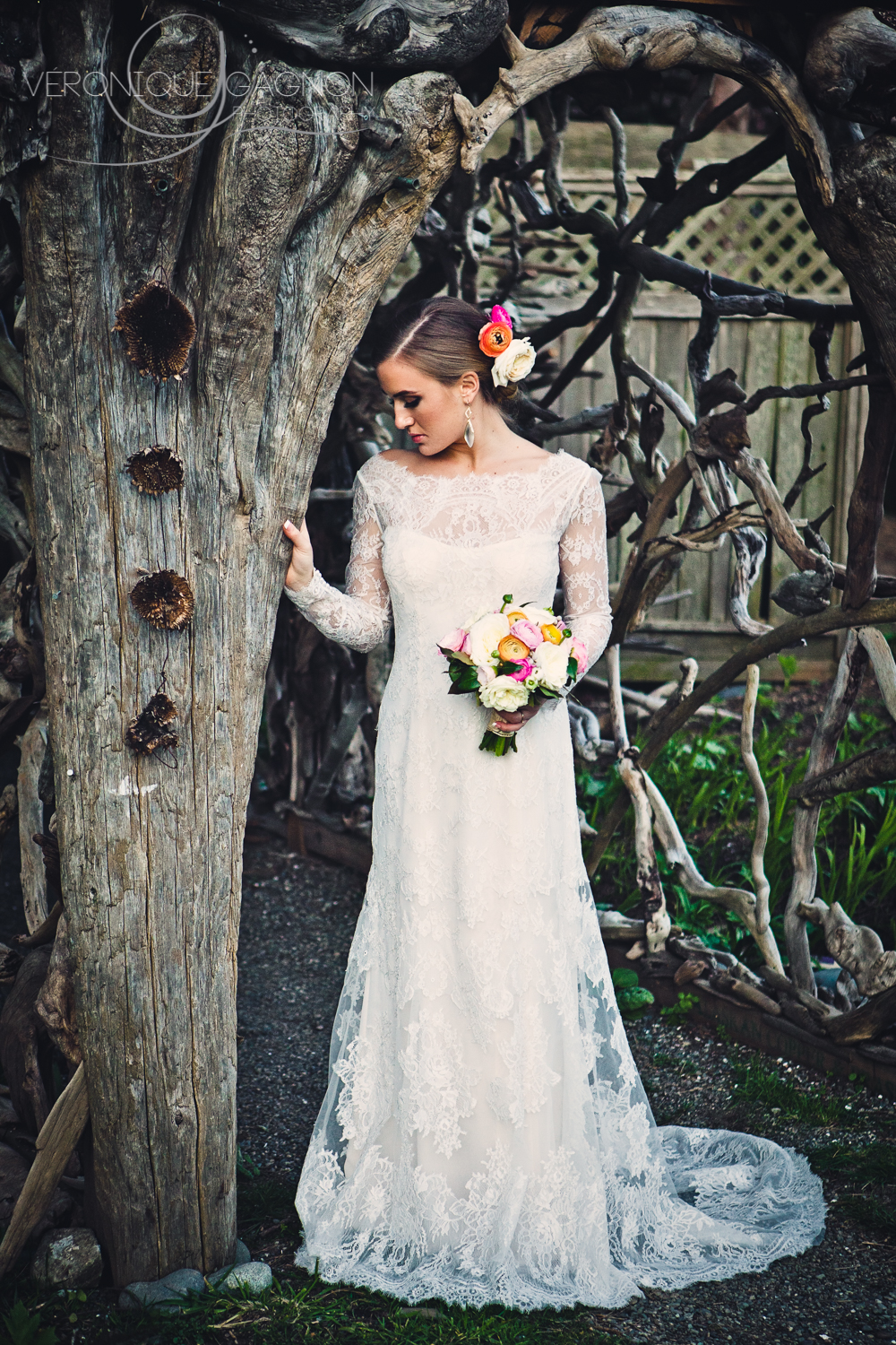 West coast wedding bridal style