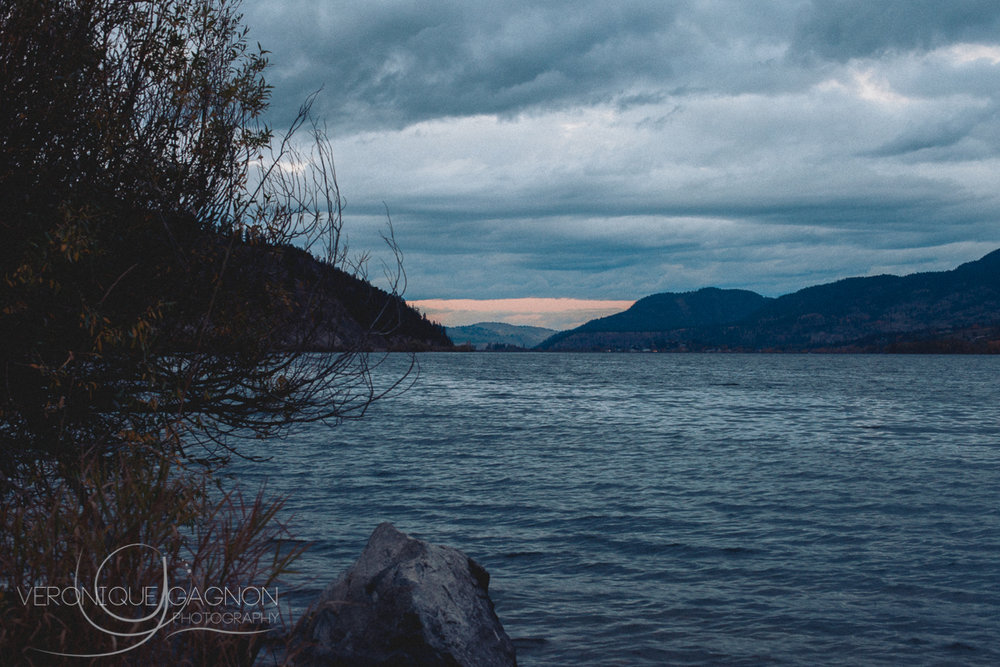 Okanagan lake in mid-October