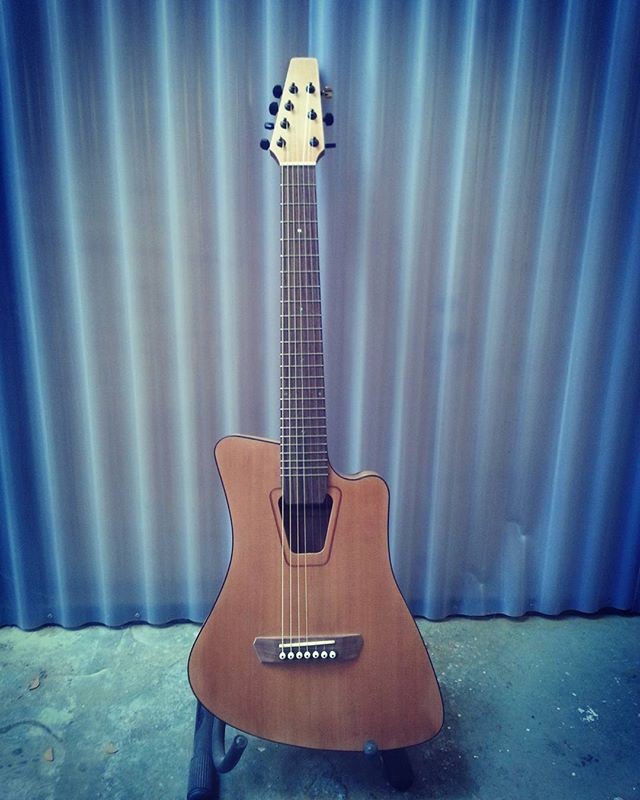 Seven string thin body acoustic built to satisfy some innovative quirks requested for the build.  #7string #cedar #steelstringacoustic #customguitarnewzealand #customacoustic #acousticguitarwellington #sevenstringacoustic