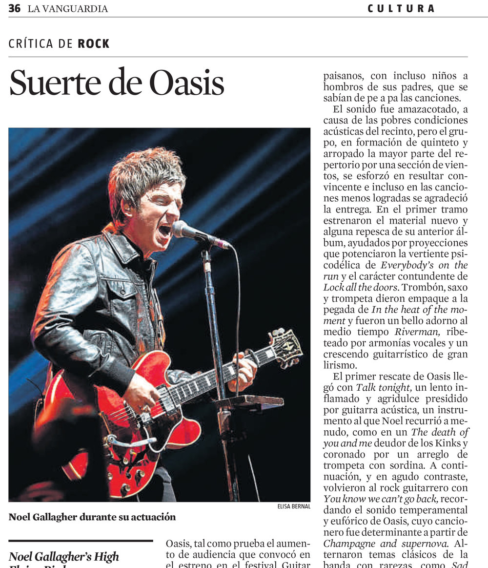 Noel Gallagher - Concert, Barcelona (Spain)