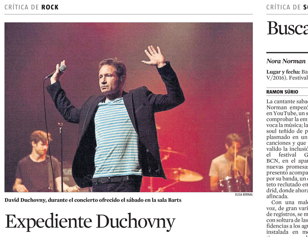 David Duchovny - X Files, Concert Barcelona (Spain)