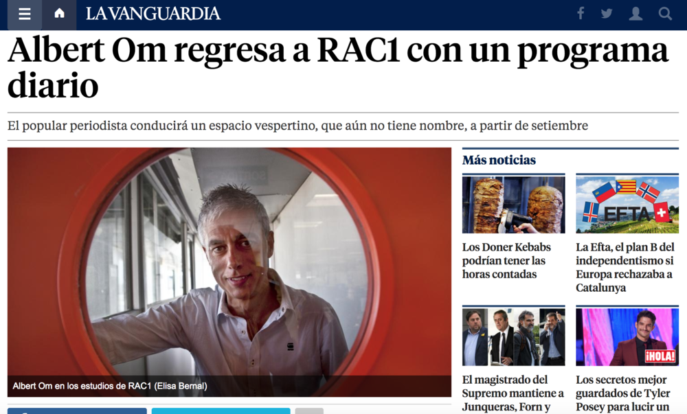 Albert Om - Rac1, Barcelona (Spain)
