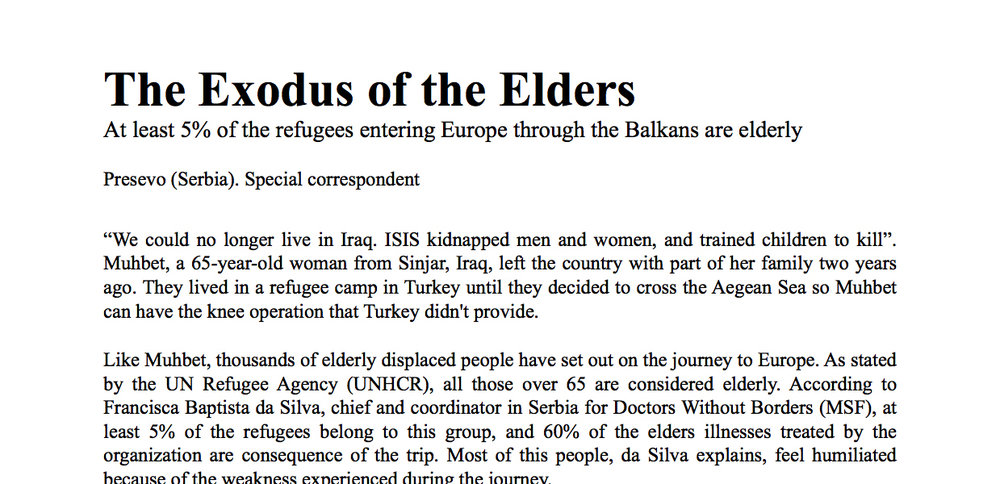 Elderly Refugees - English Version