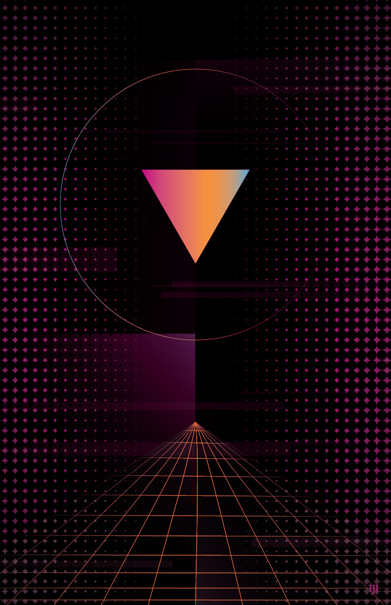 Retro 80s graphic design