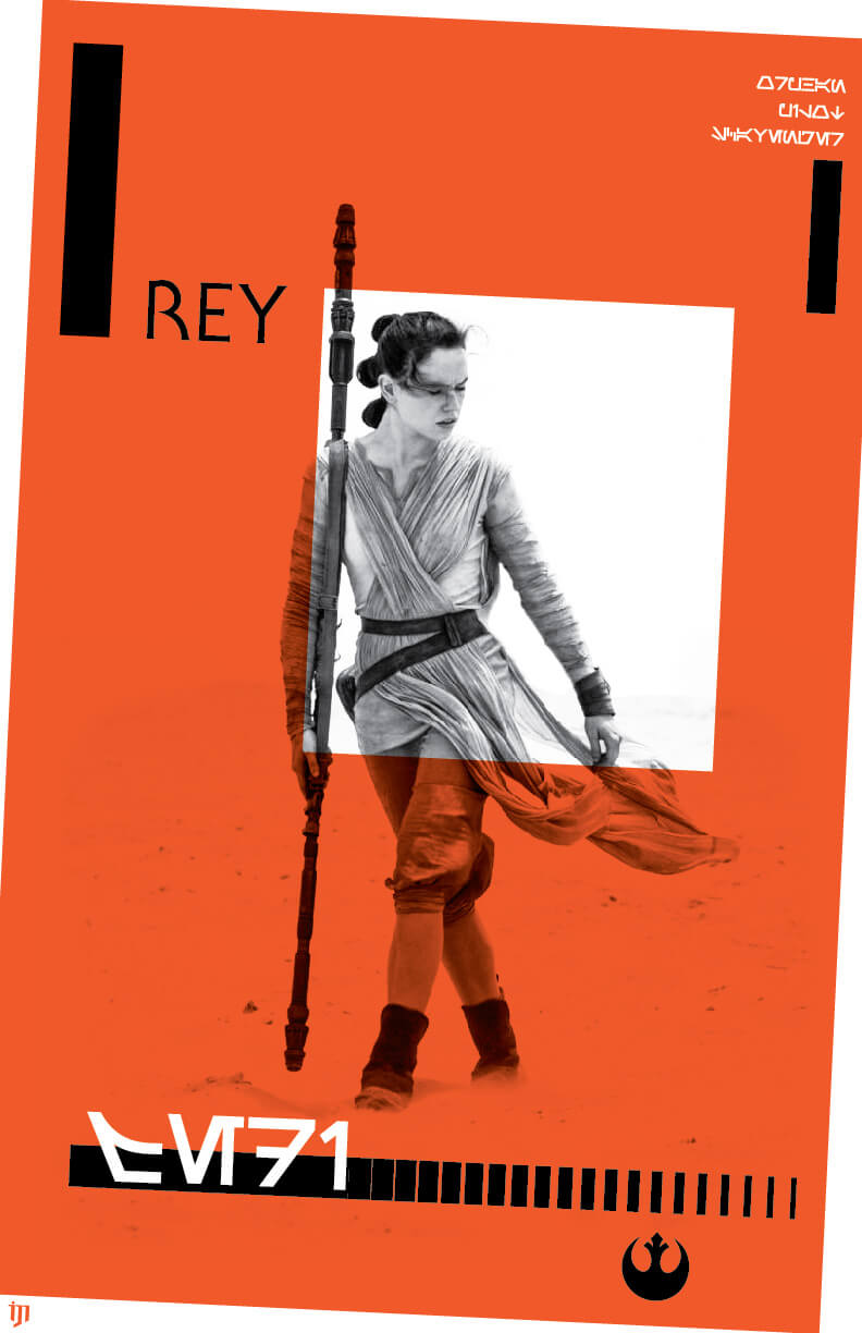 Star wars Rey Graphic design fan art