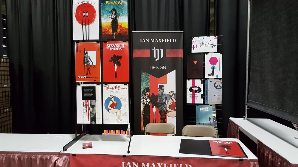 Ian Maxfield's Artist alley booth alley salt lake comic con