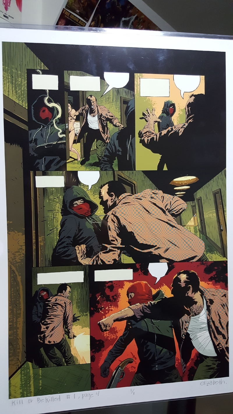 Elizabeth breitweiser color art in Kill or Be Killed #1